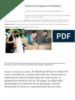 Tipos de Matrimonios Legales en Guatemala