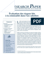 Ammour, Laurence - Évaluation des risques liés à la criminalité dans l'arc sahelien – Nato Defense College, Research Paper n° 53 - November 2009