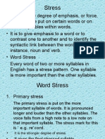 14 English Word Stress
