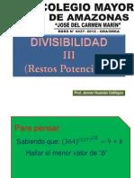 Divisibilidad III(Restos Potenciales)