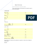 GES Basic Formulas