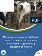 Manual Para La Implementacion de Proyectos de Captura de Metano Emitido Por La Agricultura y Ganaderia e