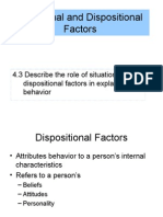 4.3 Situational and Dispositional