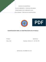Planificacion Para La Construcción de Un Muelle
