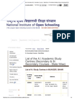 List of the a.I Academic Study Centres (Secondary & Sr