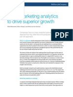 Using Marketing Analytics to Drive Superior Growth