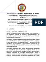 Conferencia Magistral 8 de Marzo