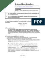 curriculum vitae guidelines 2011f
