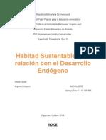 Habitat Sustentable y Su Relacion Con El Desarrollo Endógeno.