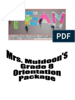 Orientation Package 1415  Grade 8.doc