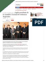 28-01-2015 CÉSAR ACUÑA FUE ELEGIDO PRESIDENTE DE LA ASAMBLEA NACIONAL DE GOBIERNOS REGIONALES _ LAREPUBLICA