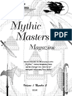MMM2 Mythus masters system newsletter 2nd issue