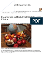 Bhagavad Gita and the Sattvic Diet