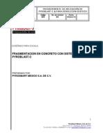 3 Procedimiento de aplicacion de PYROBLAST-C ® para demolicion de centro de entretenimiento punto cero