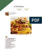 Fettuccine á Bolonhesa