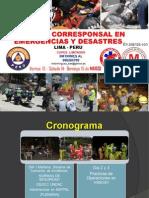 CURSO DE CORRESPONSALES EN EMERGENCIAS Y DESASTRES 2015-GREMCA- SOS EMERGENCIAS PERU