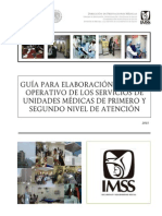 Guía Plan Operativo DMGSS 2015