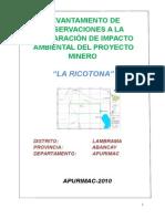 Informe Tecnico de La Ricotona