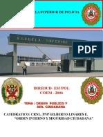 ORDEN PUBLICO Y LA SEGURIDAD CIUDADANA