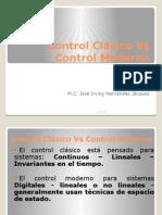 Control Clásico vs Control Moderno