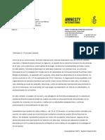 Carta de Amnistía Internacional al procurador Jesús Murillo Karam