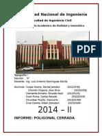 Informe Topografía Dominguez Poligonal