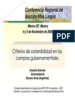 Sostenibilidad Compras Gubernamentales Mexico 2008