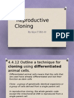 Process of Reproductive Cloning