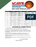 Calendario Oficial Modificado Tobacave 2015.
