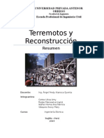 Terremotos y Reconstruccion
