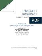 Investigacion Unidad 4 - LENGUAJES Y AUTOMATAS II