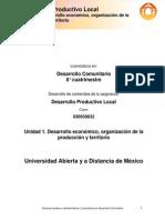 Desarrollo Productivo Local - Unidad 1. Desarrollo Económi-co, Organización de La