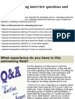 Top 10 estimating interview questions and answers.pptx