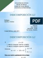 Descomposición LU