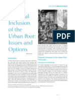 Financial Inclusion of the Urban Poor