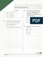 Algebra Assessments