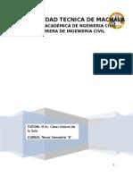 Informe El Agua, El Ciclo de Agua e Hdrologia
