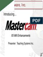 mastercam x5 training guide mill 2d3d computer aided design rh scribd com Mastercam Training CD Older Verison Mastercam Training