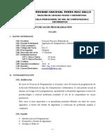 Tecnicas Programacion 2014 - II Silabo