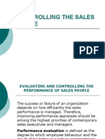 Controlling the Sales Force