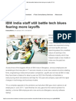 IBM India Staff Still Battle Tech Blues Fearing More Layoffs _ ET CIO
