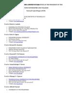 List of SUCs