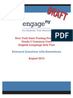 State of New York Grade 3 Ela Released Questions