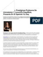 Emma Rodero, Prestigiosa Profesora de Periodismo Y LocuciÓn EspaÑola, Presente en El Spanish Vo Day