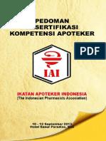 Pedoman Resertifikasi Kompetensi Apoteker 2013