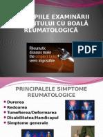 Principiile Examinarii Pacientului Cu Boala Reumatologica