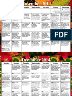 WeaverPrayer Calendar Nov-Jan 2015