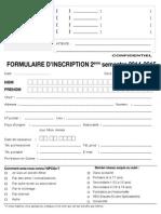 Formulaire Inscrip. Franais 2014-15 2me