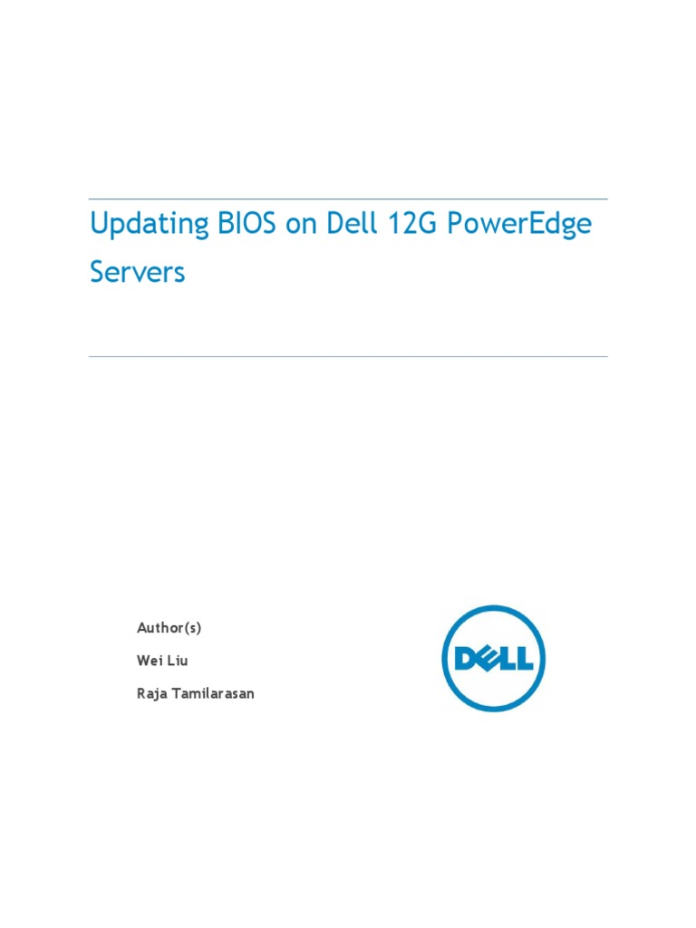 Updating bios on dell 12g poweredge servers