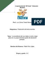 Semestral Documento Reflexivo a Partir Del Análisis de Textos Producidos